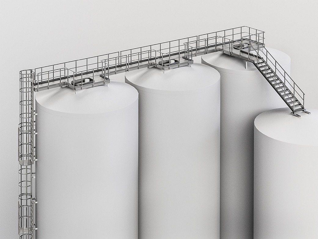 Steel platforms
