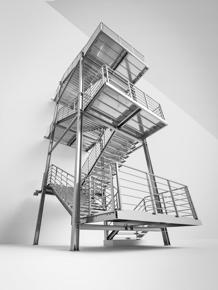 Emergency stairs