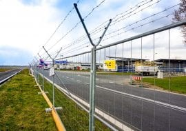 tlc group MOBILT mesh fences Chopina airport warsaw poland